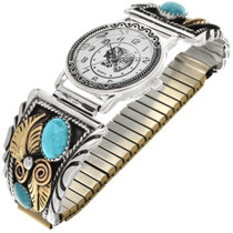 Turquoise Gold Mens Watch 22573