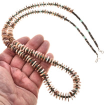 Spiny Oyster Heishi Navajo Bead Necklace 29445