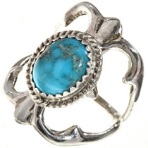 Ladies Turquoise Silver Ring 29017
