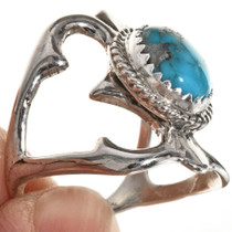 Navajo Old Pawn Style Turquoise Ring 29017