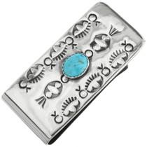 Navajo Turquoise Money Clip 29888