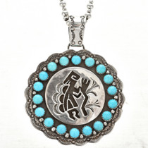 Native American Sleeping Beauty Turquoise Pendant 10142
