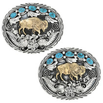 Handmade Plains Indian Buffalo Belt Buckle 17437
