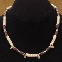 Wholesale Lot of 12 4mm to 7mm Hematite Wood Brass Bali Bead Hemp Tribal Strands.