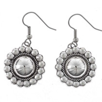 Domed Silver Concho Earrings 23265
