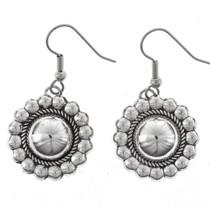 Domed Silver Concho Earrings 23265