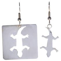 Silver Lizard Southwest Earrings 14475