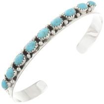 Navajo Turquoise Silver Row Bracelet 29231