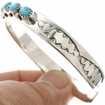 Hammered Sterling Navajo Cuff 29231