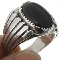 Onyx Silver Navajo Mens Ring 26708