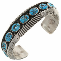 Navajo Turquoise Nugget Chiseled Cuff 27762