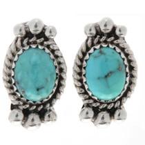 Kingman Turquoise Post Earrings 27404