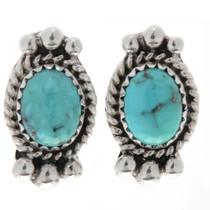 Kingman Turquoise Post Earrings 27404