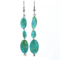 Turquoise Silver Navajo Earrings 29248