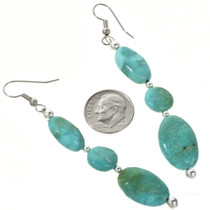 Traditional Turquoise French Hook Earrings 29248