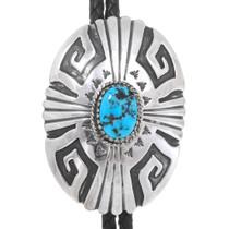 Navajo Turquoise Silver Bolo 26248