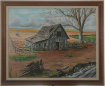 Old Barn Landscape Painting 27189