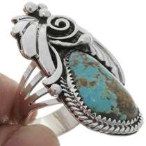 Navajo Turquoise Sterling Ring 27130