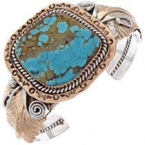 Gold Silver Turquoise Bracelet 25304