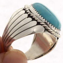 Mens Turquoise Sterling Ring 23398