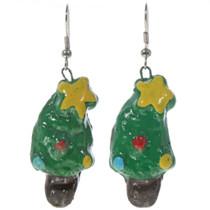 Navajo Christmas Tree Earrings  14431