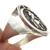 Deer Kachina Signet Mens Ring 29703