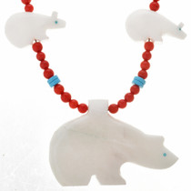 Coral Turquoise Navajo Bead Necklacde 22056