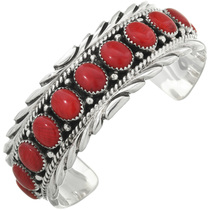 Native American Red Coral Cuff 10960