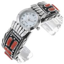 Native American Coral Ladies Watch 23071