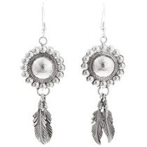 Navajo Silver Concho Earrings 16354