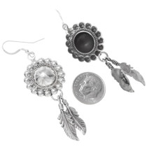 Native American Sterling Feather Earrings 16354