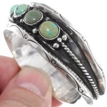 Turquoise Silver Navajo Bracelet 21965
