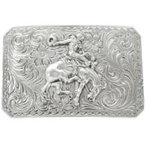 Navajo Fancy Silver Belt Buckle 26499