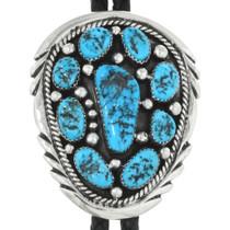 Navajo Turquoise Bolo Tie 29026