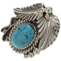 Turquoise Silver Ladies Ring 27628
