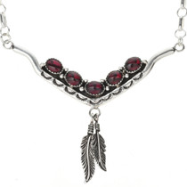 Navajo Gemstone Silver Necklace 29251