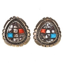 Cobblestone Navajo Silver Post Earrings 29687