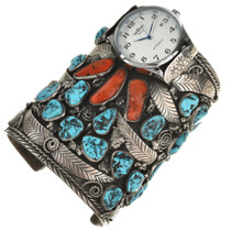 Vintage Turquoise Coral Watch 0920
