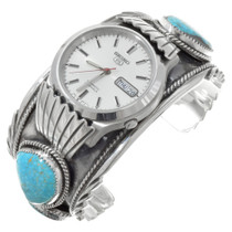 Burt Reynolds Turquoise Silver Watch 27622