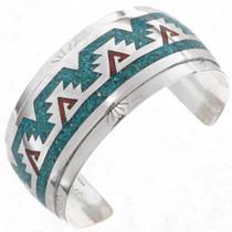 Turquoise Coral Mens Bracelet 25179