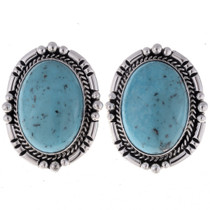 Navajo Turquoise Earrings 23320