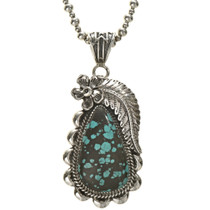 Sterling Turquoise Southwest Ladies Pendant 28542