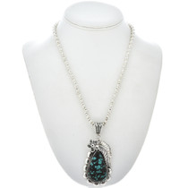 Navajo Turquoise Silver Pendant 28542