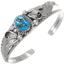 Natural Turquoise Navajo Ladies Bracelet  27489