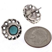 Silver Flower Posts Earrings 25490