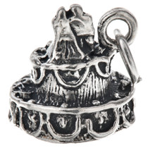 Sterling Silver Wedding Cake Charm 35437