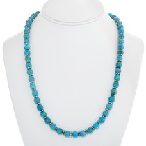 Navajo Turquoise Beaded Necklace 24014