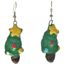 Southwest Christmas Tree Dangle Earrings 11150