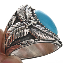 Big Boy Turquoise Silver Ring 24984