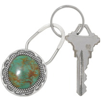 Turquoise Silver Key Ring 25084